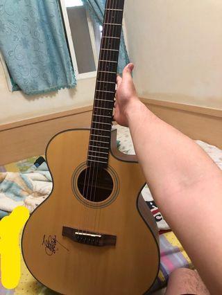 Woodtone GA-110C吉他 九成新 付調音器 有馬叔叔簽名