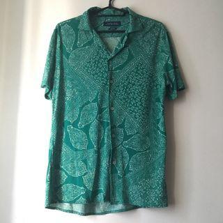 Zara Green Paisley Button Up