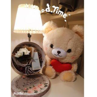 Birthday Present Set - Plush Toy / Flower / Perfume