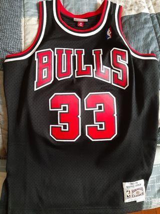 mitchell and ness pippen 球衣 M號 9.5成新  nba store 購入