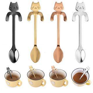 Spoon - Cute Stainless Steel Cat - Coffee - Tea - Drink - Tableware - Kitchen Equipment - Teaspoon
