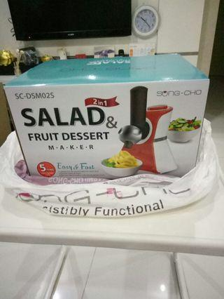 Salad/fruit dessert/ice cream(brand new)
