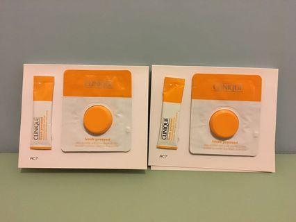 Clinique fresh pressed vitamins C連潔面粉套裝