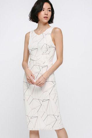 Love Bonito Ikaley Printed Midi Dress