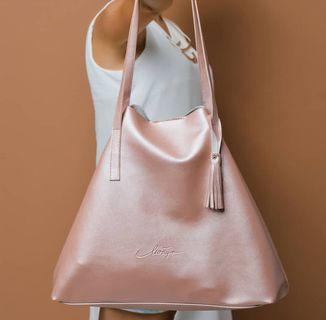 RoseGold Tote Bag Levaya Totebag tas punggung pink rose gold