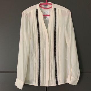 包郵全新未剪牌H&M雪紡恤衫返工衫New chiffon blouse from H&M