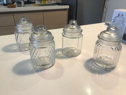 GLASS JARS (4 pieces)
