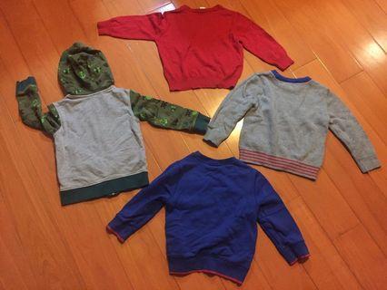 🚚 正品H&M+gap2-4y+ Cater's連帽外套/針織衣/t恤4件組
