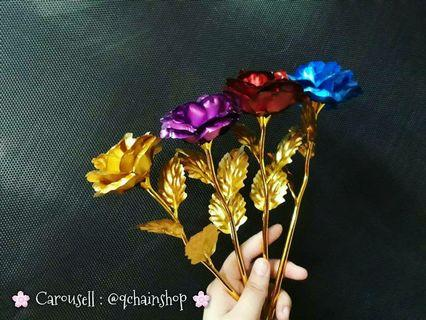 [READY STOCK] Artificial Dipped Flower 24k Gold Foil Rose