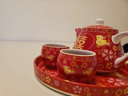 結婚茶具 連托盤