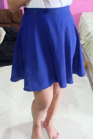 Flare Skirt Electric Blue