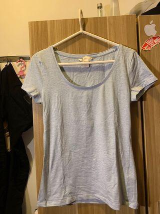 H&M 短袖天藍