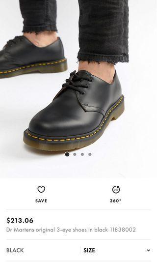 🚚 Dr Martens 3-eye shoes in Black