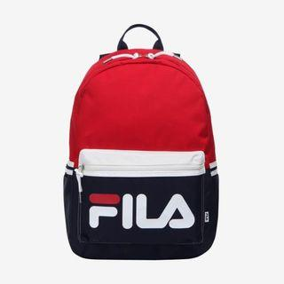 🚚 READY STOCKS | Fila Korea Colour Blocking Court Backpack Bag (Dark Red) FS3BPB5304X_DRD