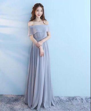 韓版長款小禮服
