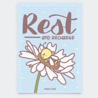 🚚 Beezy Bee Rest And Recharge Postcard