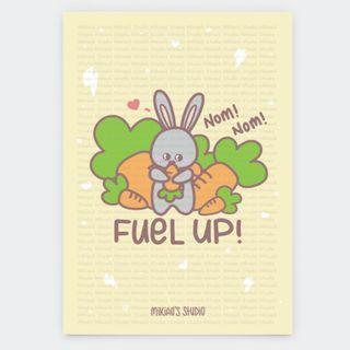 🚚 Koko Bunny Fuel Up Postcard