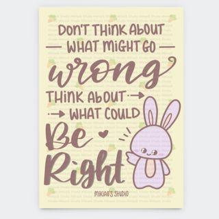🚚 Don't Think About What Might Go Wrong Motivational Postcard