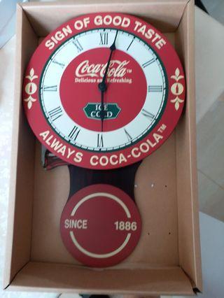 可口可樂搖擺掛牆鐘,仍然可用