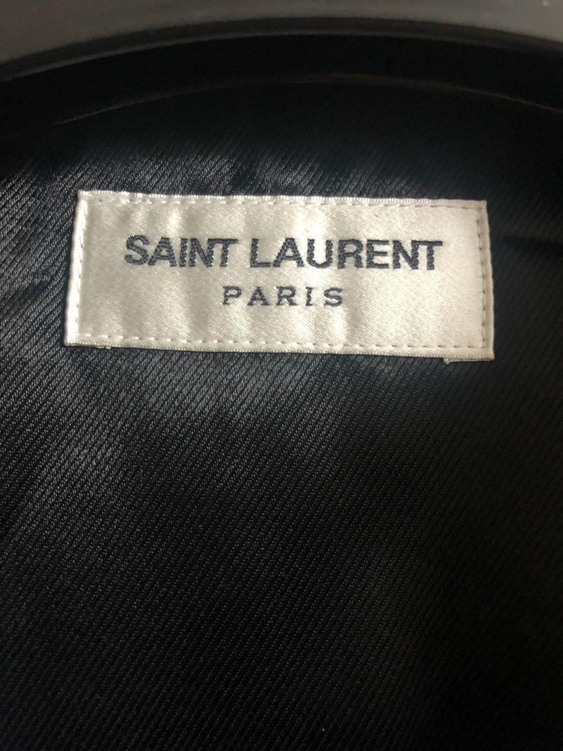 原價$42900 全新saint Laurent Paris leather jacket Sz 46 new Slp