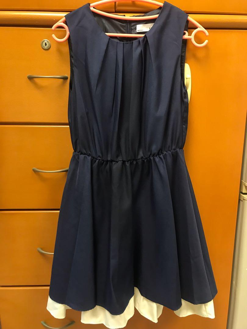 韓國牌子寶藍色斯文連身裙