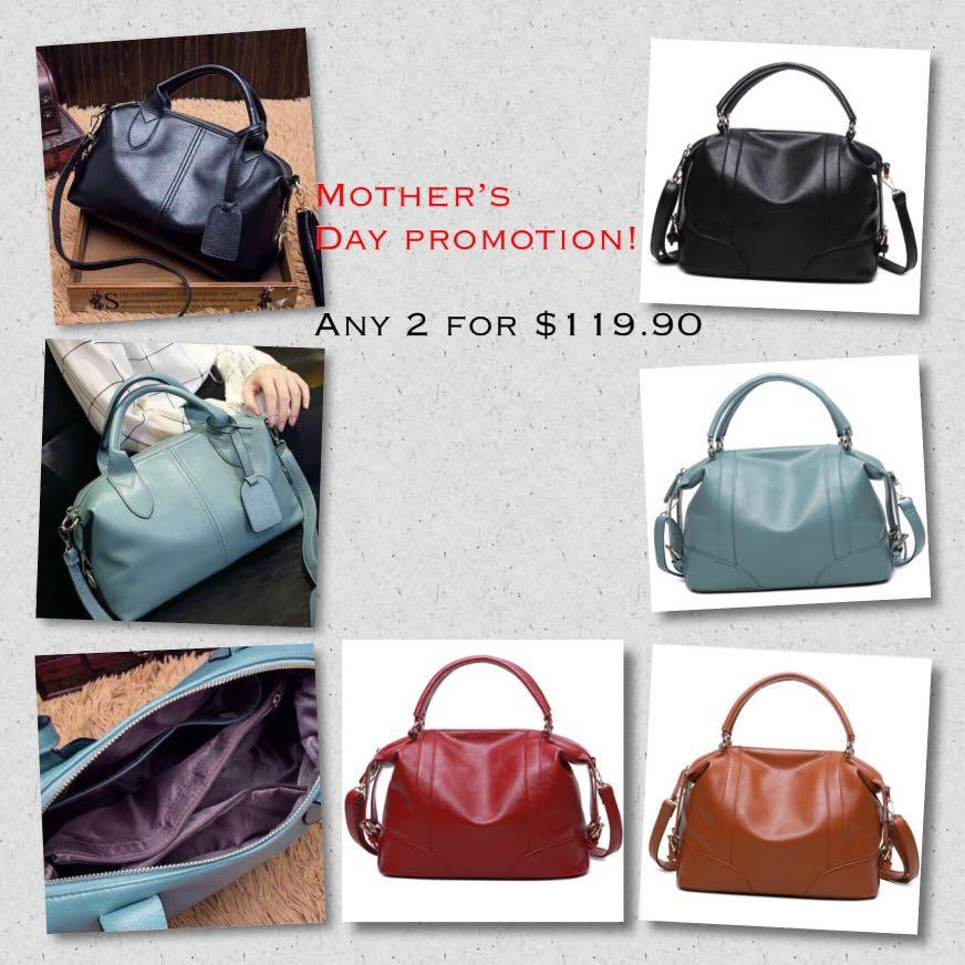 💕 [2 for only $119.90!] VEGAN LEATHER FEMALE WEEKENDER DUFFLE BAG WITH CROSSBODY STRAP! Mother's Day promotion! 💕