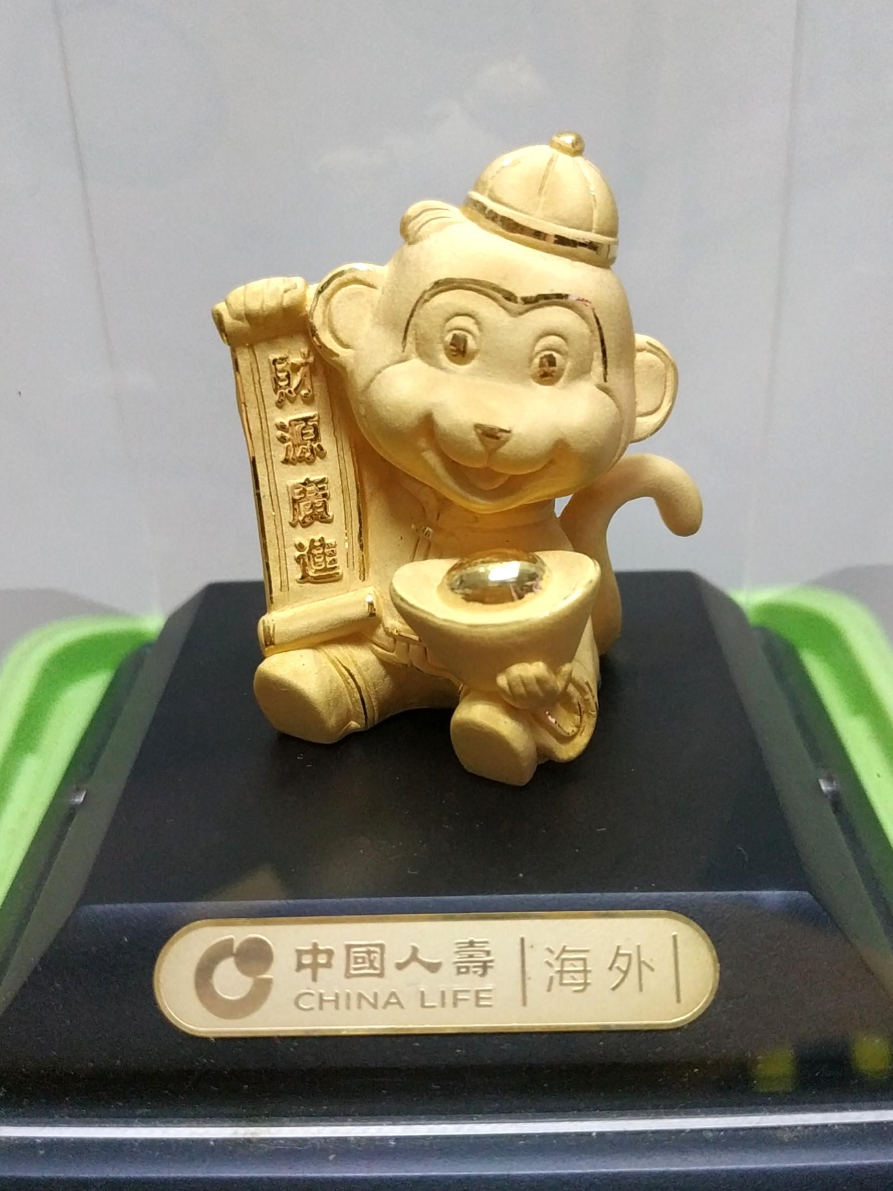 二手 金猴 24K鍍金包金