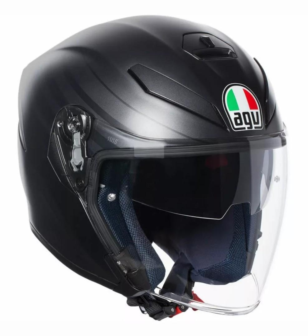 Agv K5 Jet Matte Grey Black Pre Order Ramadan Special Motorcycles Motorcycle Accessories On Carousell