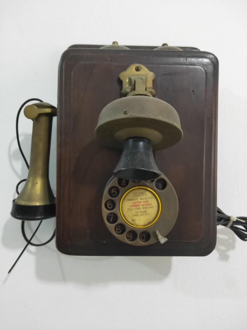Antique prewar wall mount Telephone