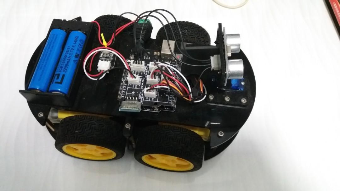 Fully assembled Arduino 4 wheel robot car