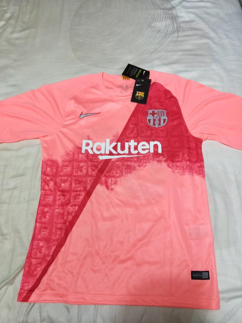 check out 02408 9bf9a Barcelona 3rd Kit Jersey Pink Away Brand New Never Worn ...