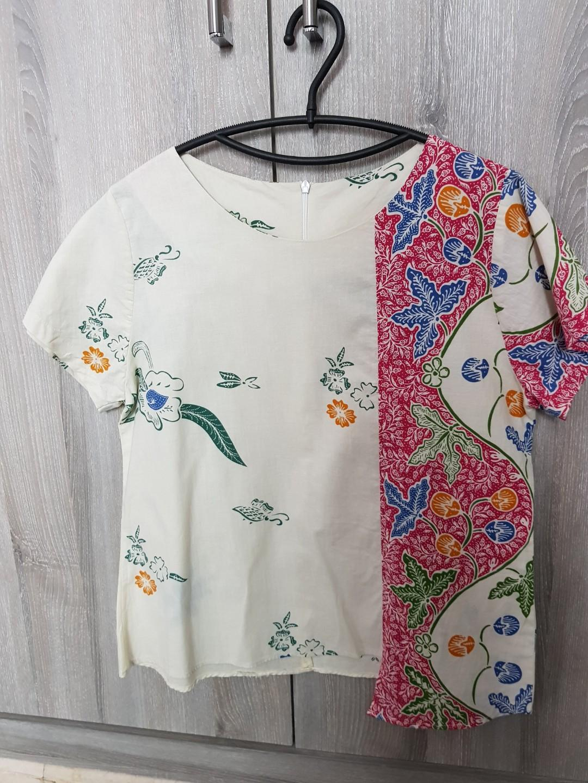 Batik cotton blouse