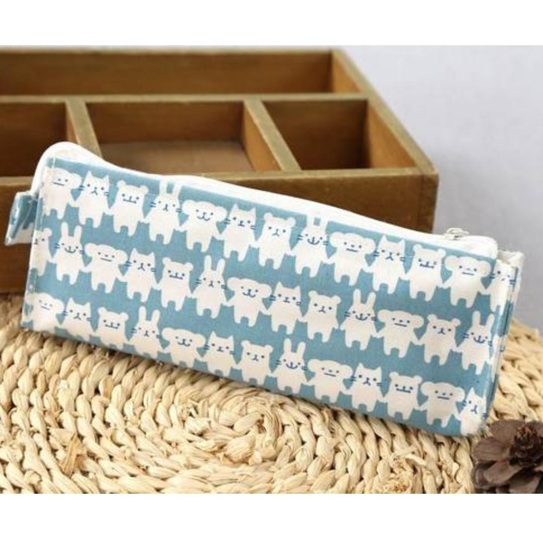 Bear & Rabbit Pencil Case