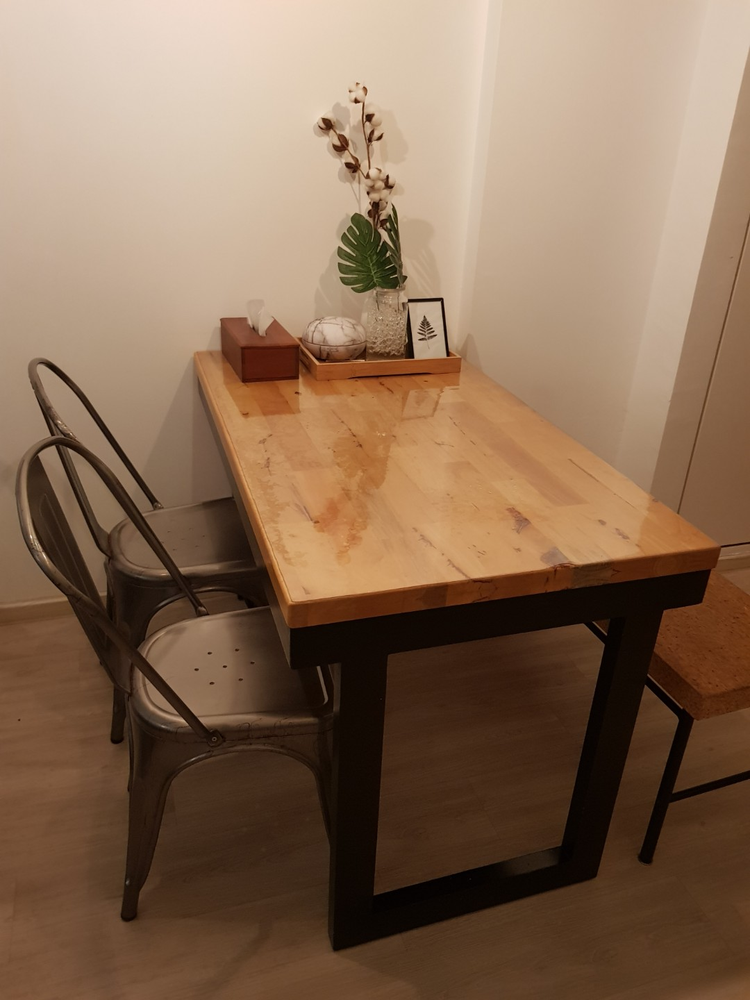 Hari Raya Clearance Butcher Block Dining Table Only Furniture Tables Chairs On Carousell