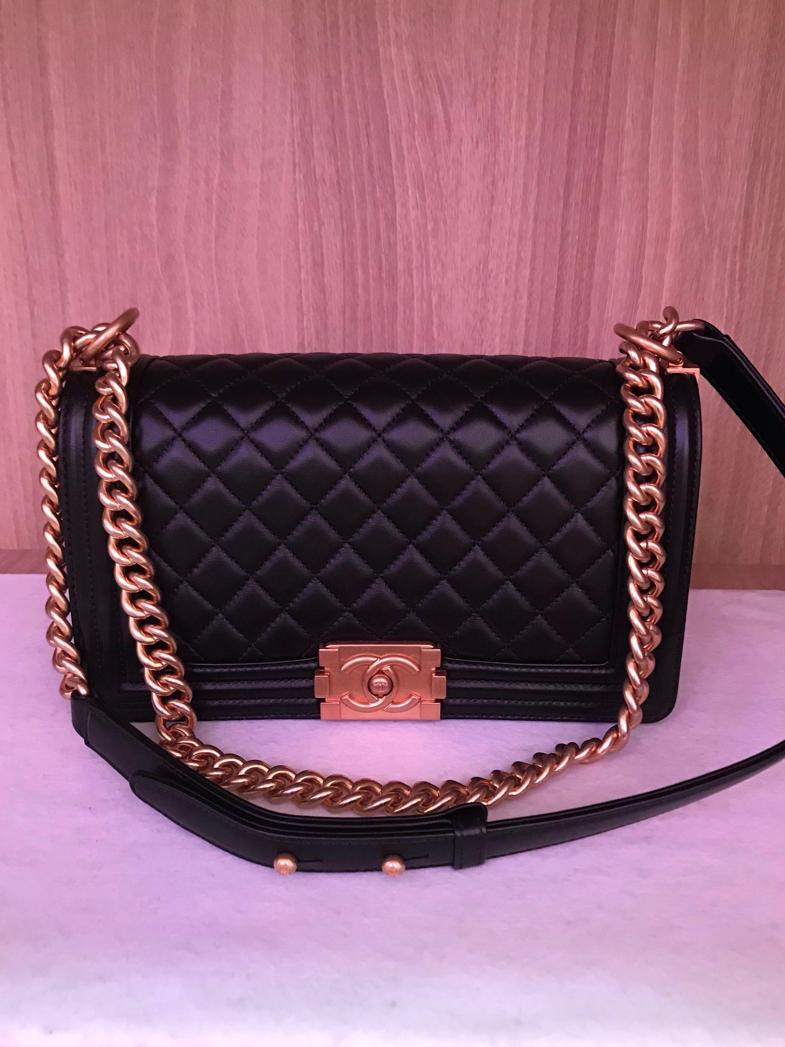 ce8112749f91 Chanel Boy medium lambskin Ghw full set with Boutique Receipt 2327xxxx,  Luxury, Bags & Wallets, Handbags on Carousell
