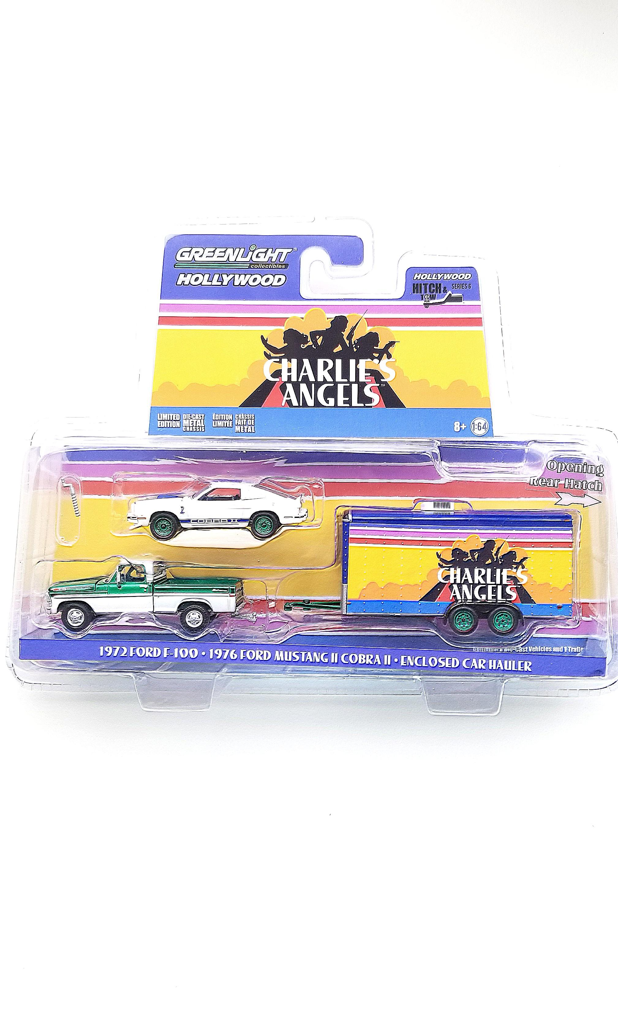 CHASE: Greenlight Hollywood Charlie's Angels Ford F-100, Mustang CobraII, and Hauler