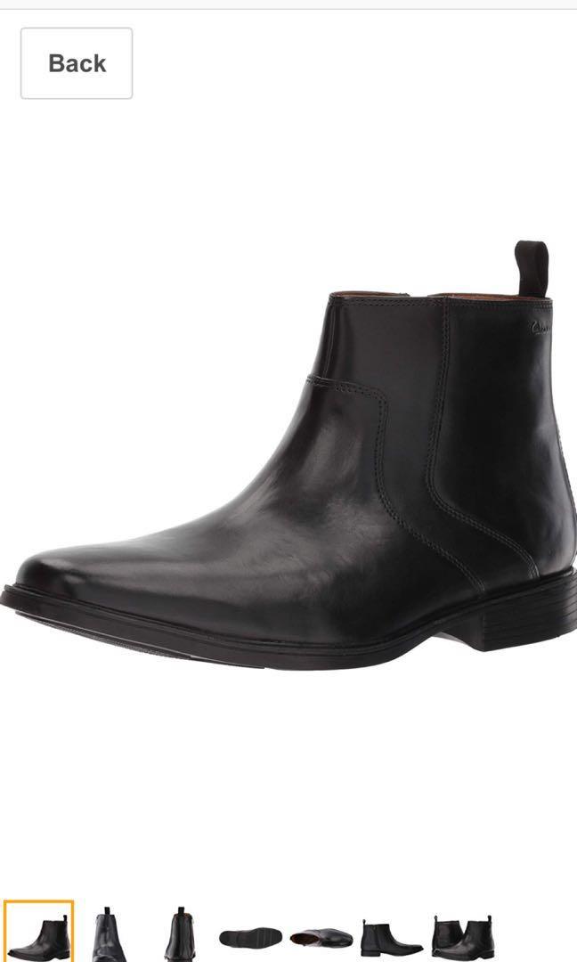 Clarks men Tilden Zip Chelsea Boots UK9