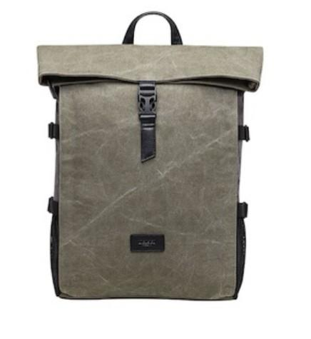 Delsey FREQUENT Backpack Green Canvas Laptop Travel