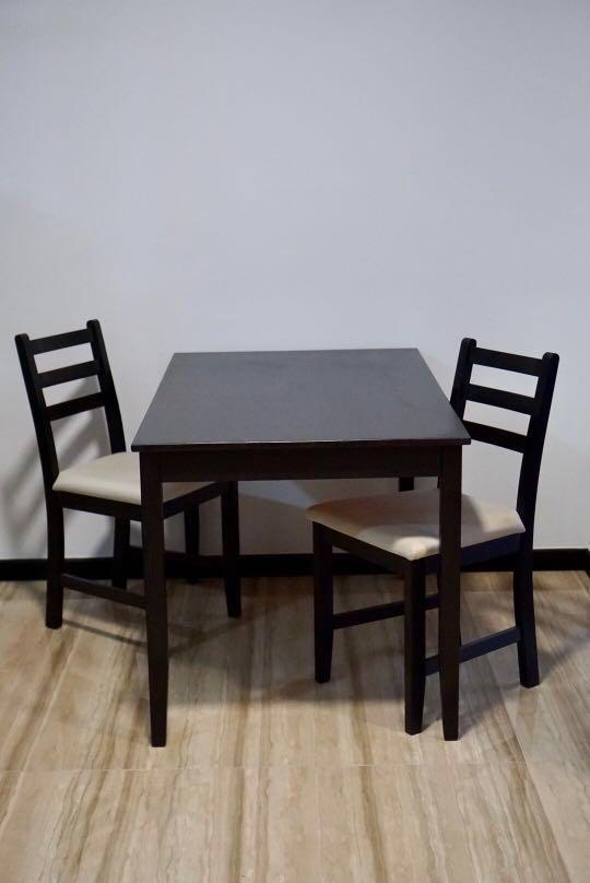 Dining Table 2 Chairs Ikea Lerhamn Furniture Tables Chairs On Carousell