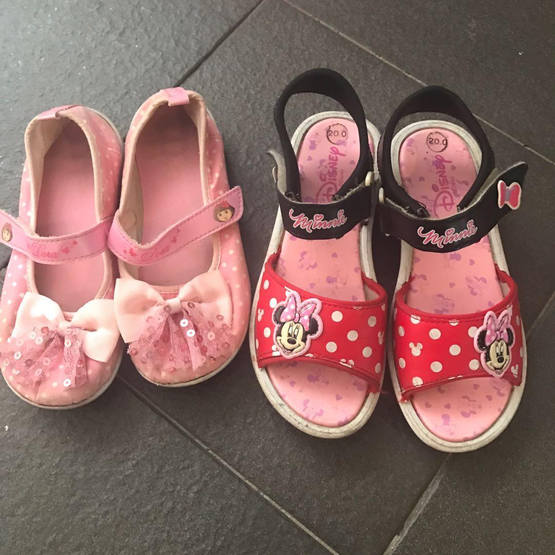Disney Dora Minnie Mouse sandals shoes