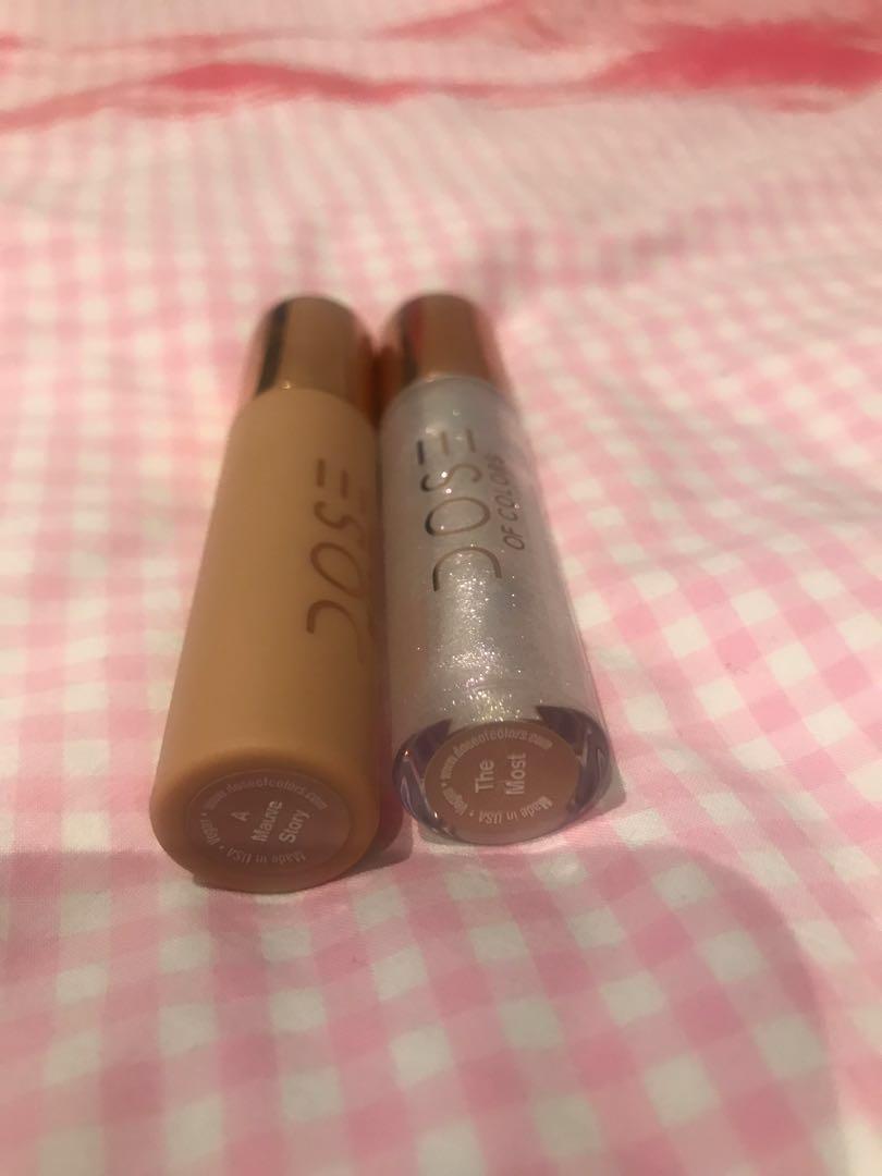 Dose of colours Desi x Katy liquid velvet and lip gloss