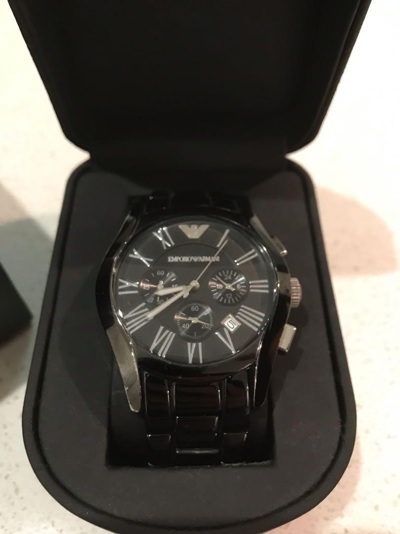 Emporio Armani - ceramic black watch.  - Mint condition