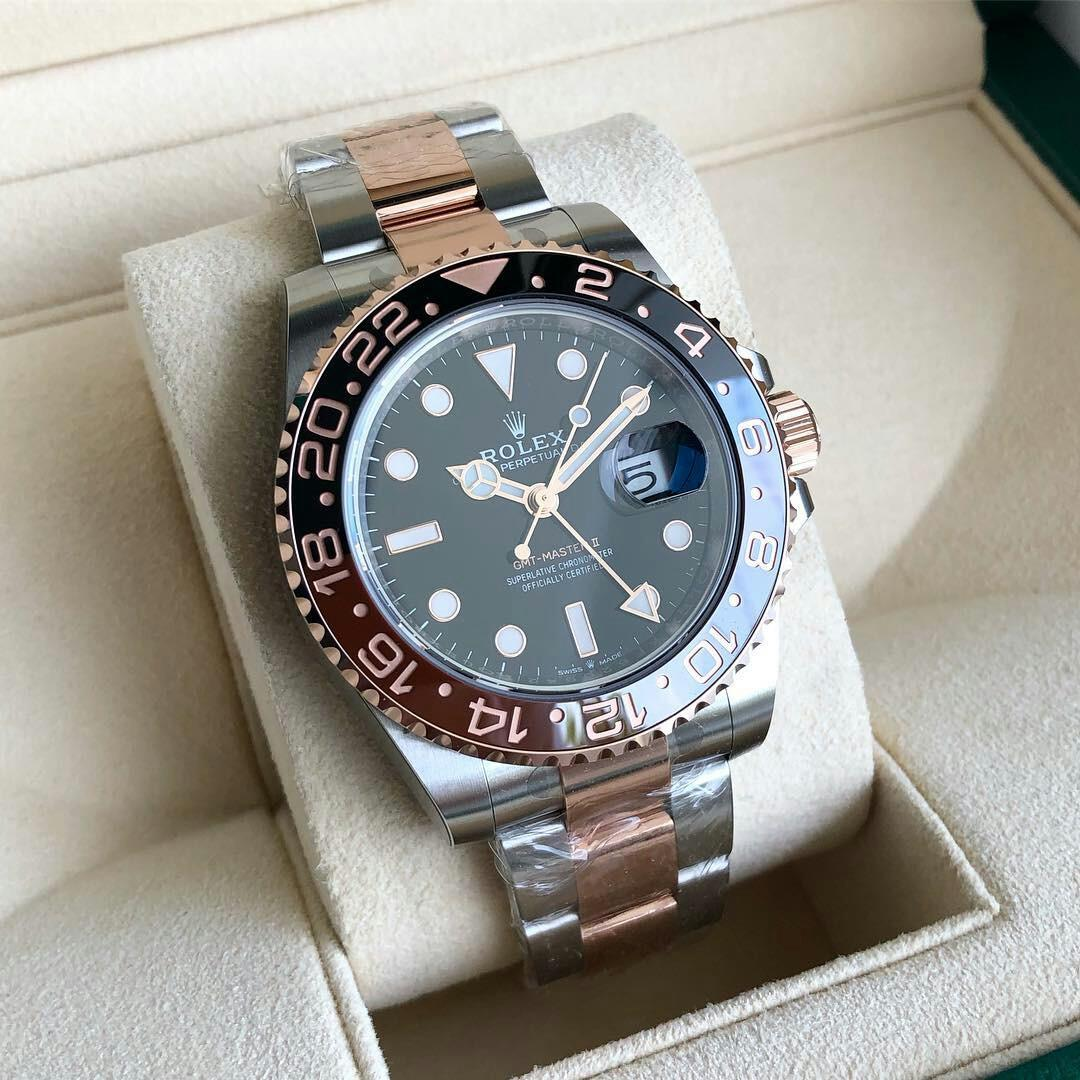 For Sale : Rolex GMT Master II / 40mm / ( RootBeer - Very Rare ) / Two Tone / 18K Rose Gold Combine with Stainless Steel / Stamp Feb '19 / Brand New / Unresized / Complete Box n Paper / Price Only 300 millions ruoiahs Nett  / Thx