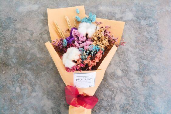 Graduation Dried Flower Bouquet