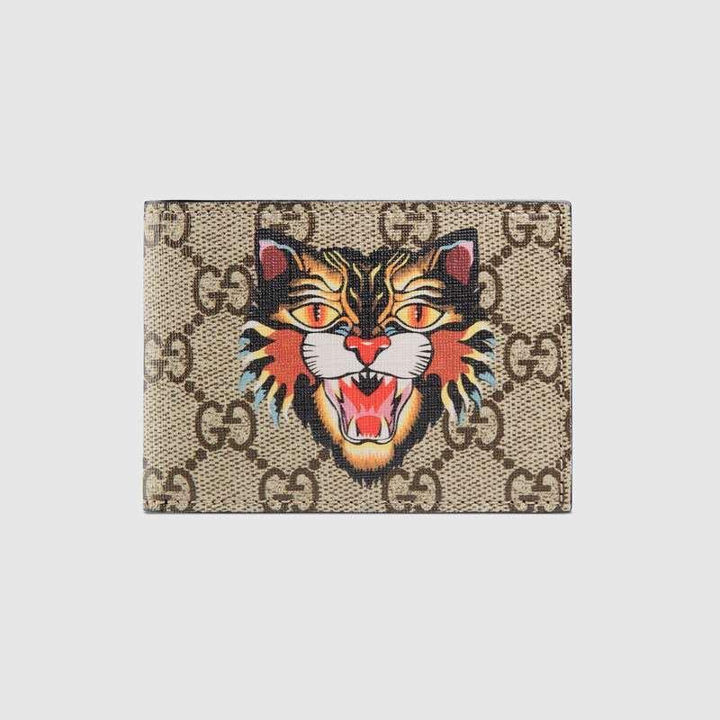 4de4c24498a8 Gucci Angry Cat GG supreme, Men's Fashion, Bags & Wallets, Wallets ...