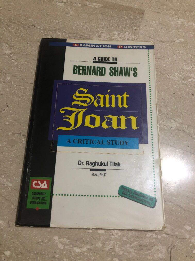 H1/H2 A level Lit: St Joan Critical Study Guide
