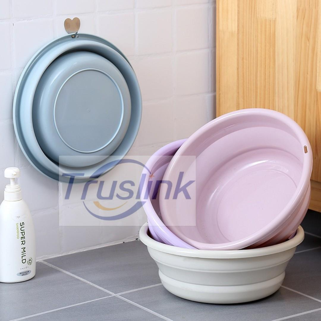 Folding Wash Basin Bucket Portable Collapsible Bucket for Outdoor Camping