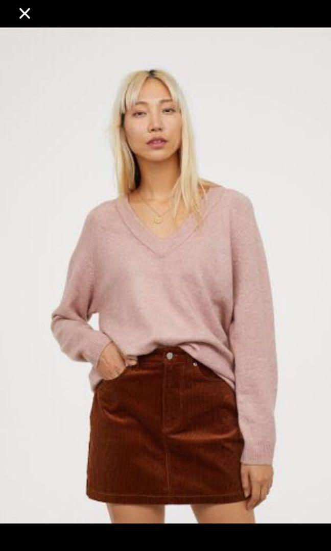 H&M dusty pink sweater