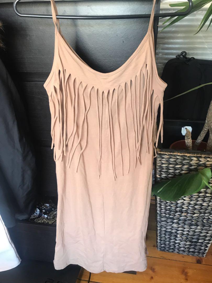 Ibiza Nude Tassel Dress