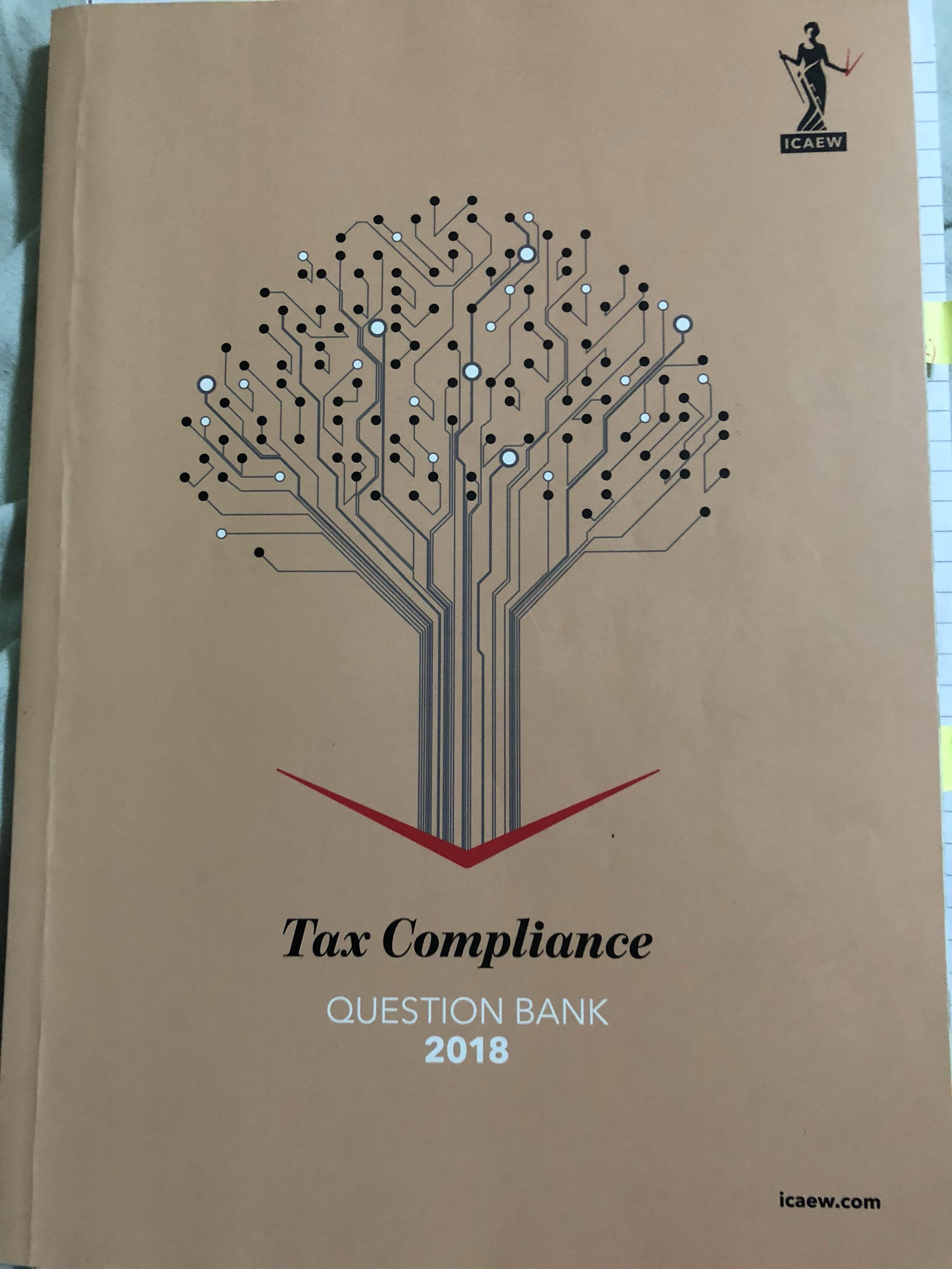 ICAEW - Tax Compliance 2018 question bank